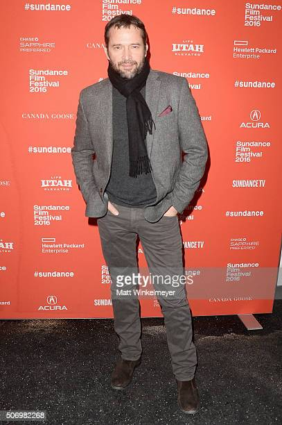 Actor James Purefoy attends the Equity Premiere during the 2016 Sundance Film Festival at Library Center Theater on January 26 2016 in Park City Utah