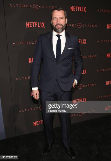 "Actor James Purefoy attends the World Premiere of the Netflix Original Series ""Altered Carbon"" on February 1, 2018 in Los Angeles, California."