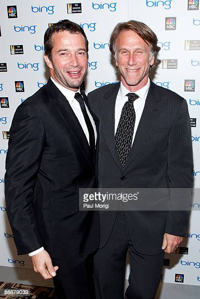Actor James Purfoy and Director Peter Horton arrive at the premiere of NBC's 'The Philanthropist' hosted by The Creative Coalition at the Landmark...