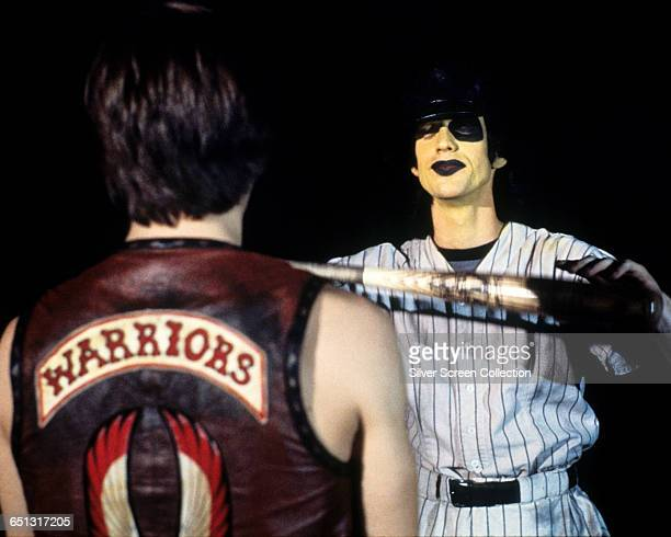 Actor James Remar as Ajax and Jery Hewitt as Thurman the Warchief of the Baseball Furies in the film 'The Warriors' 1979