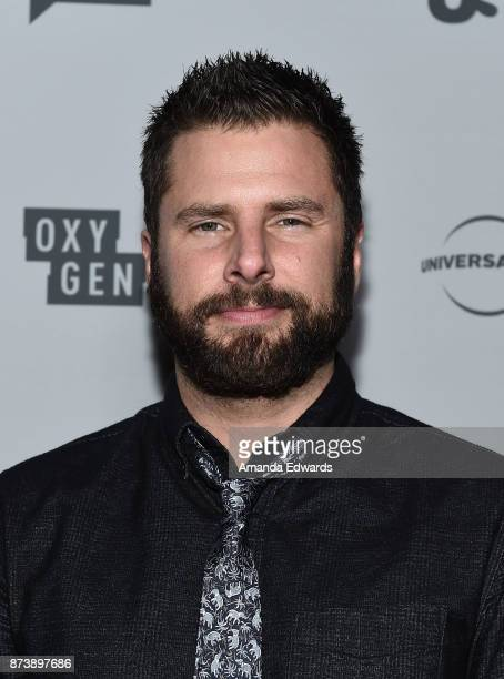 Actor James Roday arrives at NBCUniversal's Press Junket at Beauty Essex on November 13 2017 in Los Angeles California