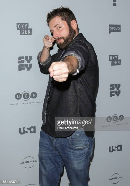 Actor James Roday attends NBCUniversal's press junket at Beauty Essex on November 13 2017 in Los Angeles California