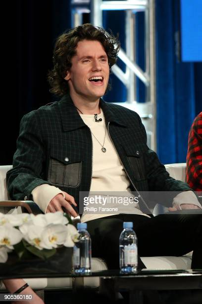 Actor James Scully of 'Heathers' speaks onstage during the Paramount Network portion of the 2018 Winter TCA on January 15 2018 in Pasadena California