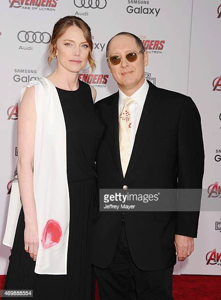 Actor James Spader and actress Leslie Stefanson arrive at the Marvel's 'Avengers Age Of Ultron' Los Angeles Premiere at Dolby Theatre on April 13...