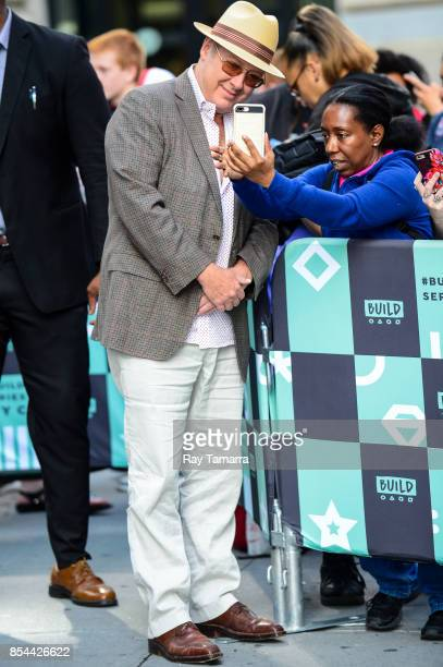 Actor James Spader leaves the 'AOL Build' taping at the AOL Studios on September 26 2017 in New York City