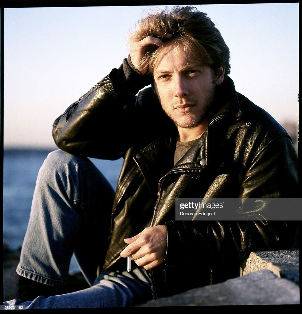 Actor James Spader posing for RollingStone on the Hudson River piers in October 1987 in New York City, New York.