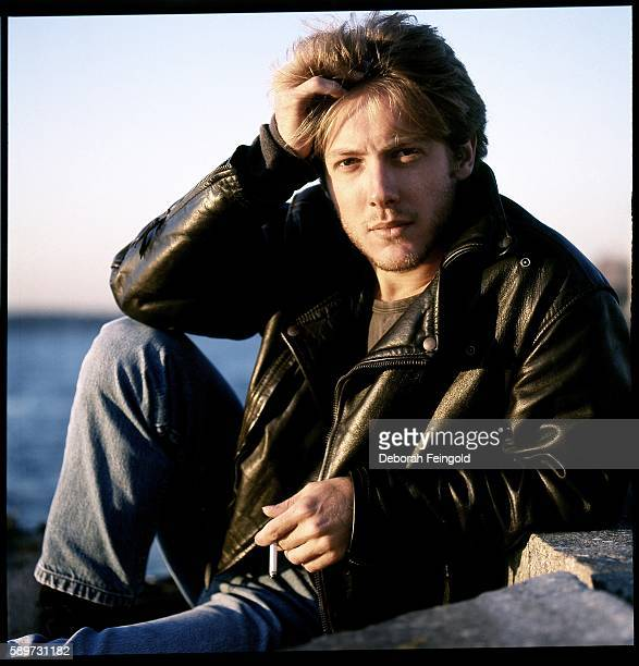 Actor James Spader posing for RollingStone on the Hudson River piers in October 1987 in New York City New York