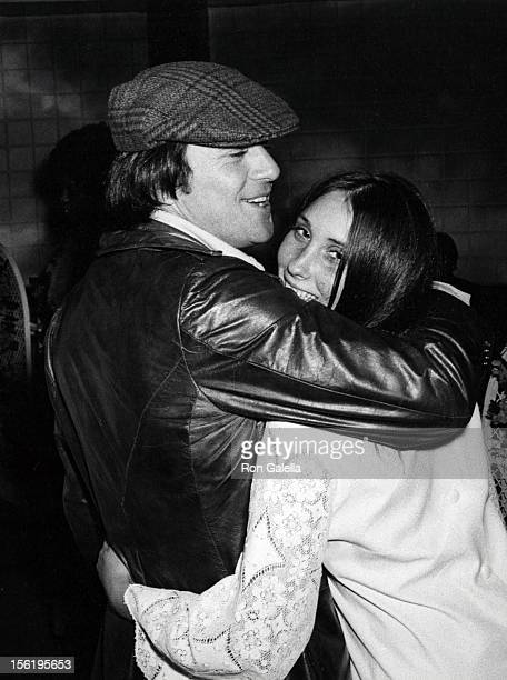 Actor James Stacy and actress Sally Warren attend the preview of 'Magic Christian' on January 29 1970 at the Music Hall Theater in Los Angeles...