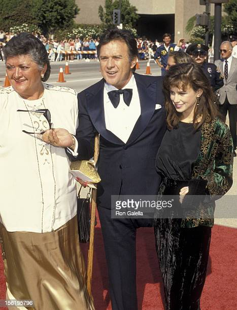 Actor James Stacy and daughter attend 38th Annual Primetime Emmy Awards on September 21 1986 at the Pasadena Civic Auditorium in Pasadena California