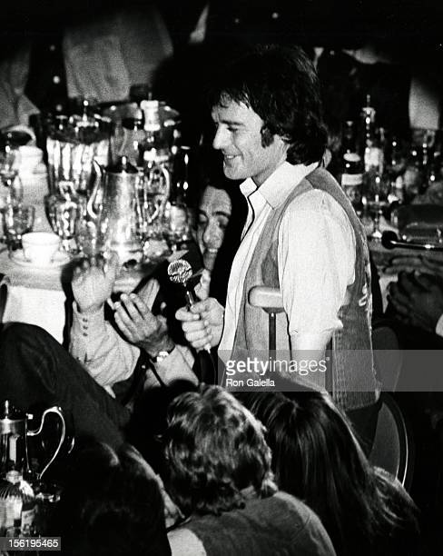 Actor James Stacy attends James Stacy Benefit Party on March 24 1974 at the Century Plaza Hotel in Century City California