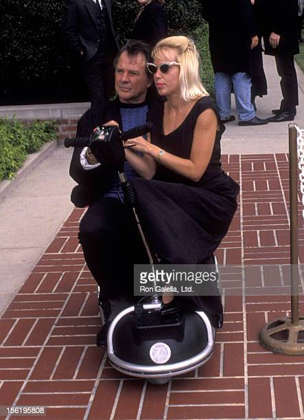 Actor James Stacy attends Sam Kinison Funeral Service on April 15 1992 at Forest Lawn Cemetery in Burbank California