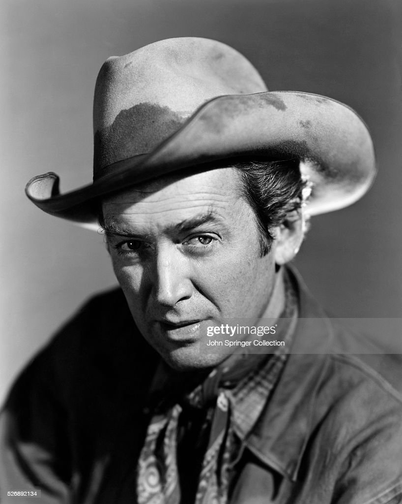 Actor James Stewart in Cowboy Hat