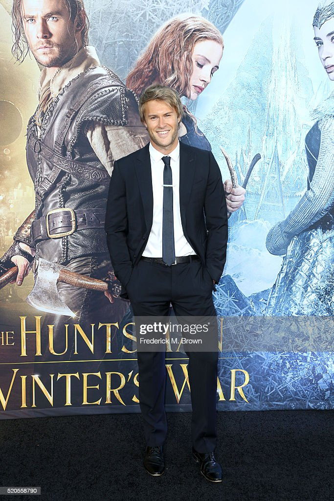 Actor James Trevena-Brown attends the premiere of Universal Pictures' 'The Huntsman: Winter's War' at the Regency Village Theatre on April 11, 2016 in Westwood, California.