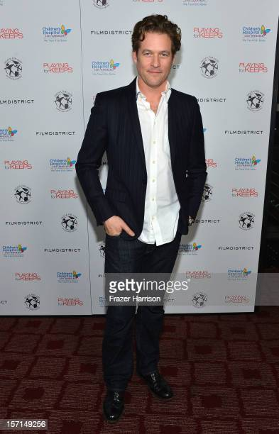 Actor James Tupper arrives at the special Children's Hospital Los Angeles' Benefit screening of 'Playing For Keeps' at ArcLight Hollywood on November...