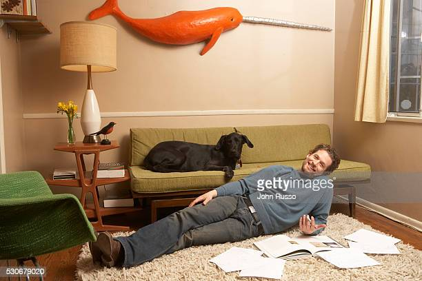 Actor James Tupper is photographed for InTouch Weekly Magazine in 2007 at home in Los Angeles California