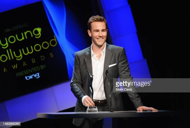 Actor James Van Der Beek accepts the Icon Award during the 14th Annual Young Hollywood Awards presented by Bing at Hollywood Athletic Club on June 14...