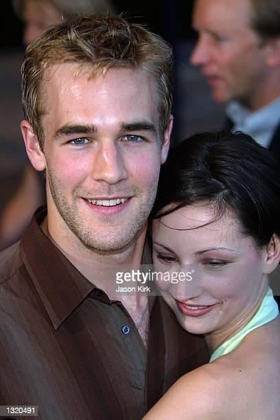 "Actor James Van Der Beek and his date Heather arrive at the world premiere of the film ""Lara Croft: Tomb Raider"" June 11, 2001 in Westwood, CA."