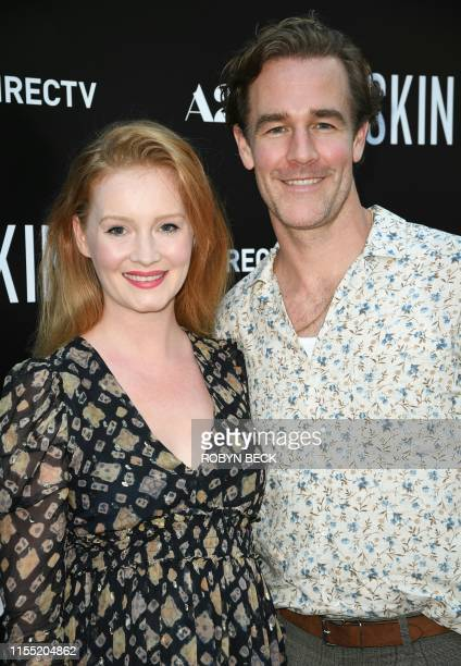 US actor James Van Der Beek and his wife actress/producer Kimberly Brook arrive for the special screening of Skin at the Arclight in Hollywood on...
