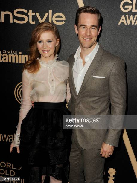 Actor James Van Der Beek and his wife Kimberly arrive at the Hollywood Foreign Press Association's and In Style's celebration of the 2013 Golden...