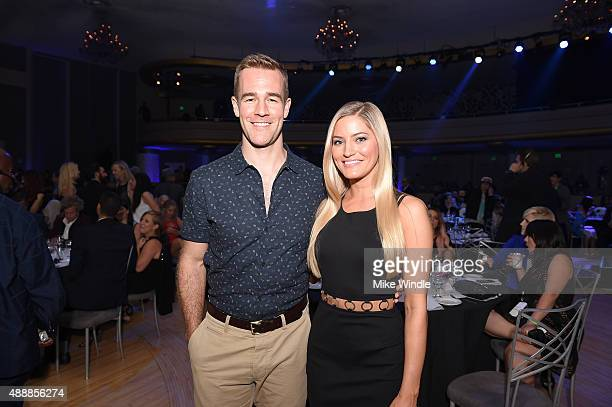 Actor James Van Der Beek and internet personality Justine Ezarik attend VH1's 5th Annual Streamy Awards at the Hollywood Palladium on Thursday...