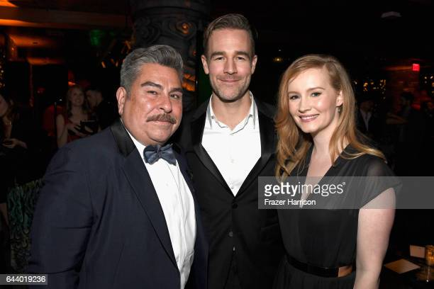 Actor James Van Der Beek and Kimberly Brook attend the 14th Annual Global Green Pre Oscar Party at TAO Hollywood on February 22 2017 in Los Angeles...