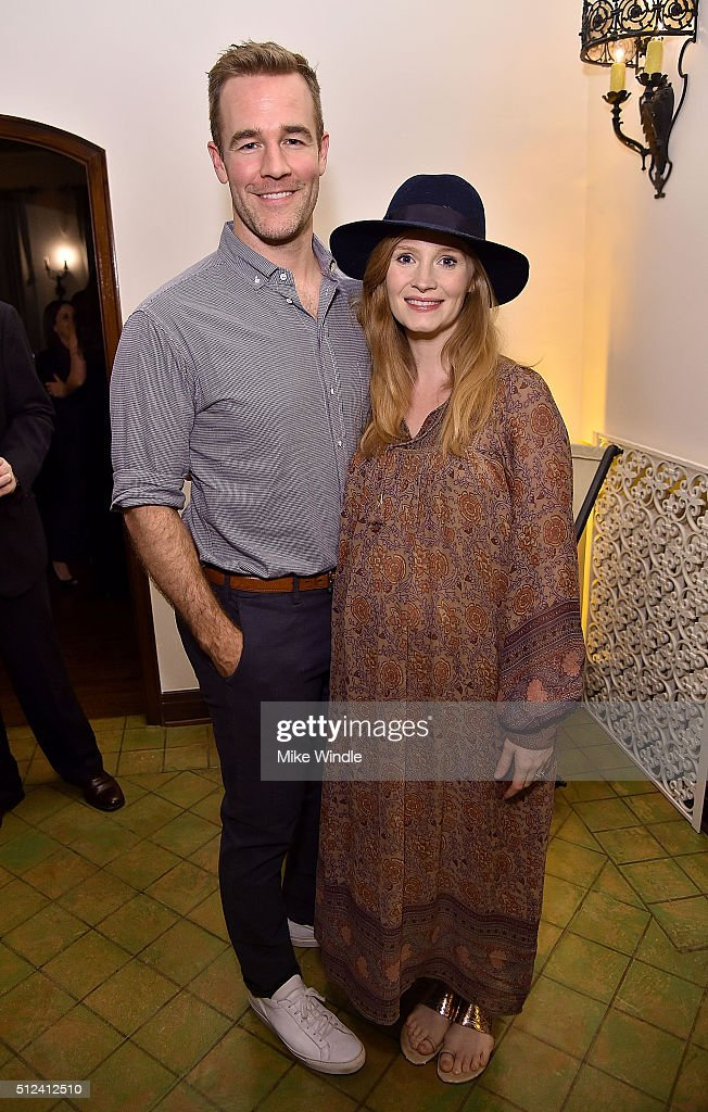 Actor James Van Der Beek (L) and Kimberly Brook attend The Dinner For Equality co-hosted by Patricia Arquette and Marc Benioff on February 25, 2016 in Beverly Hills, California.