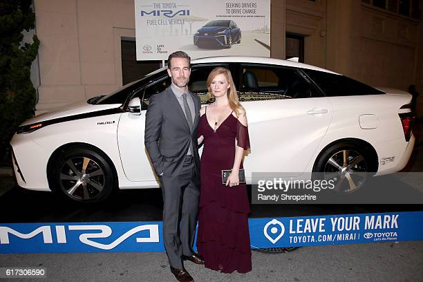 Actor James Van Der Beek and Kimberly Brook attend the Environmental Media Association 26th Annual EMA Awards Presented By Toyota, Lexus And Calvert...