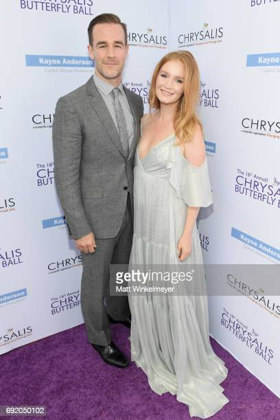 Actor James Van Der Beek and producer Kimberly Brook at the 16th Annual Chrysalis Butterfly Ball on June 3 2017 in Los Angeles California