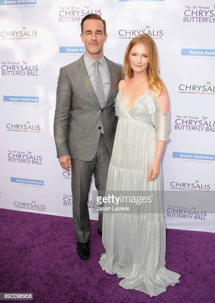 Actor James Van Der Beek and wife Kimberly Brook attend the 16th annual Chrysalis Butterfly Ball on June 3 2017 in Brentwood California