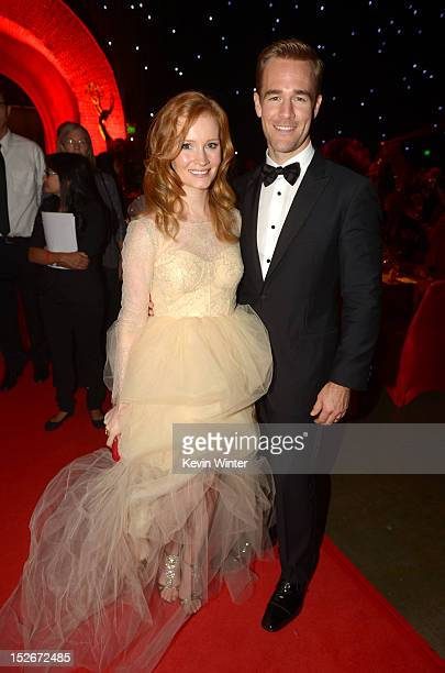 Actor James Van Der Beek and wife Kimberly Van Der Beek attend the 64th Annual Primetime Emmy Awards Governors Ball at Nokia Theatre LA Live on...