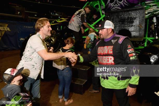 Actor James Van Der Beek attends Monster Jam at STAPLES Center on Saturday August 18 2018 in Los Angeles CAa