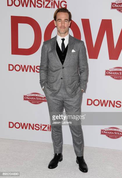 Actor James Van Der Beek attends the premiere of Downsizing at Regency Village Theatre on December 18 2017 in Westwood California