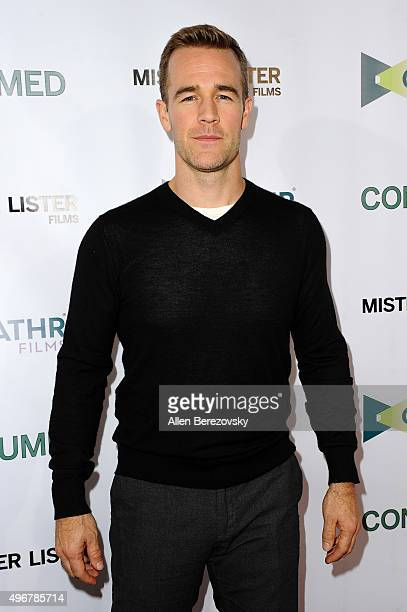 Actor James Van Der Beek attends the premiere of Mister Lister Film's 'Consumed' at Laemmle Music Hall on November 11 2015 in Beverly Hills California