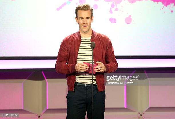 Actor James Van Der Beek speaks onstage during the 6th annual Streamy Awards hosted by King Bach and live streamed on YouTube at The Beverly Hilton...