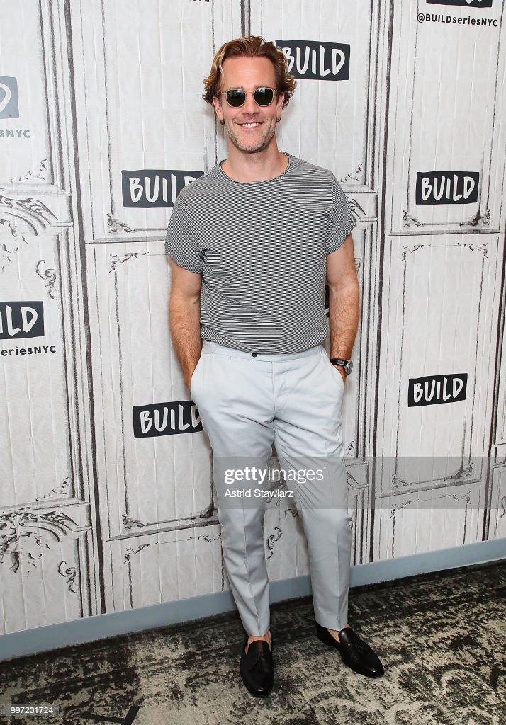 Actor James Van Der Beek visits Build studio on July 12, 2018 in New York City.