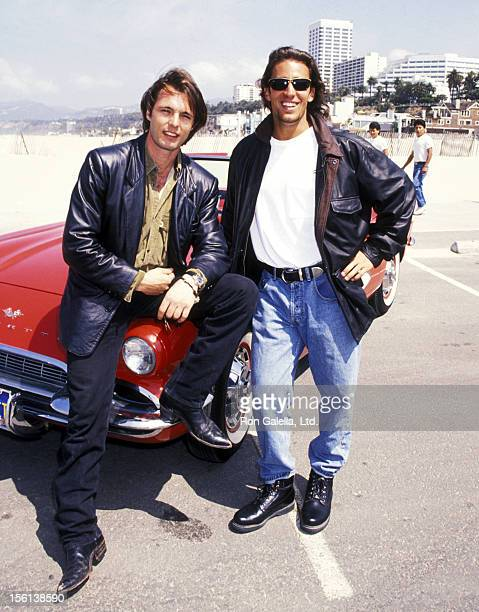 Actor James Wilder and Actor Dan Cortese attend the 'MulitFaceted KickOff Rally to Celebrating the NBC's New Show 'Route 66'' on June 3 1993 at the...