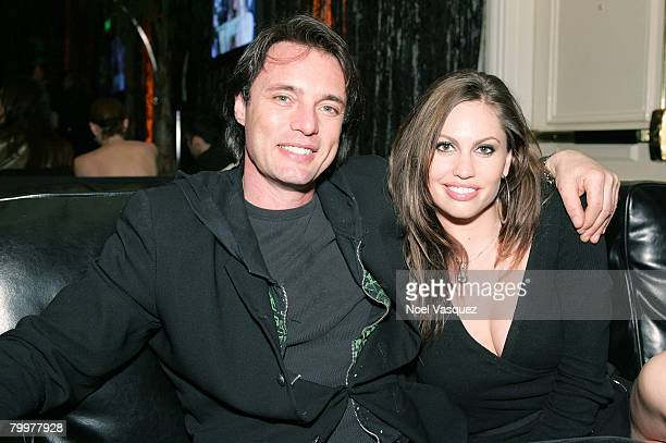 Actor James Wilder and Kendra Reynolds attends the MercedesBenz Oscar viewing party held at the Four Seasons Hotel on February 24 2008 in Beverly...