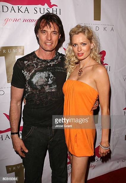 Actor James Wilder and recording artist Anouska De Georgiou attend Edward Brik's birthday party at Hadaka Sushi on March 22 2008 in West Hollywood...
