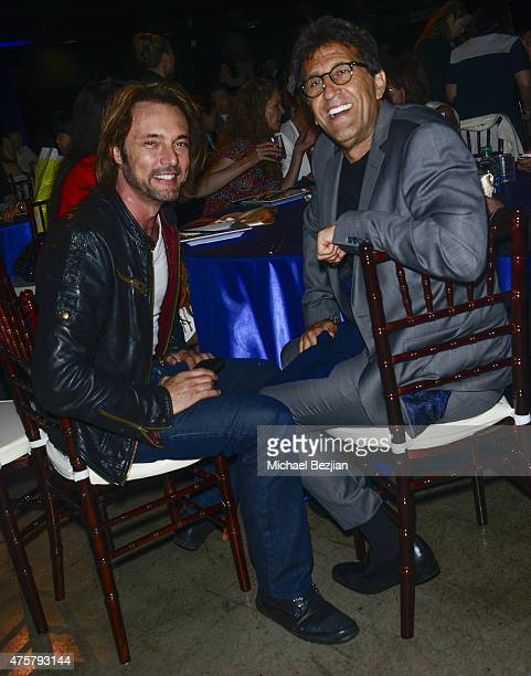 Actor James Wilder and TCL Owner Ellis Samaha attend Bruno Wu and Seven Stars Entertainment Sponsor TCL Chinese Theatre Handprints For Director...