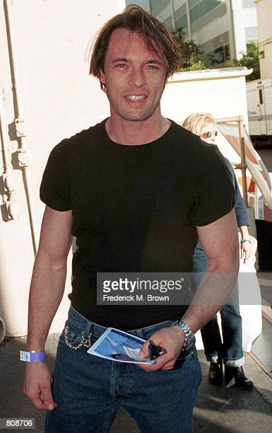 Actor James Wilder arrives at the Super Saturday LA designer garage sale to benefit the Ovarian Cancer Research Fund November 18 2000 in Los Angeles...