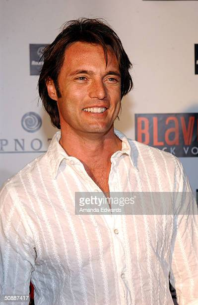 Actor James Wilder arrives at Von Dutch Originals head designer Christian Audigier's birthday party on May 21 2004 at a private residence in...