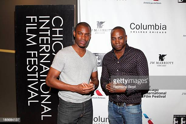 Actor James Williams and film director Stephen Lloyd Jackson poses for photos at the screening of their film Sable Fable during the Chicago...