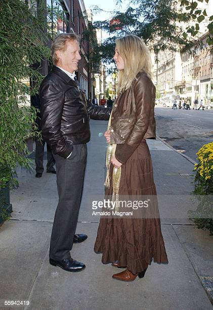 Actor James Woods and actress Ashley Myrick stand together October 17 2005 in New York City