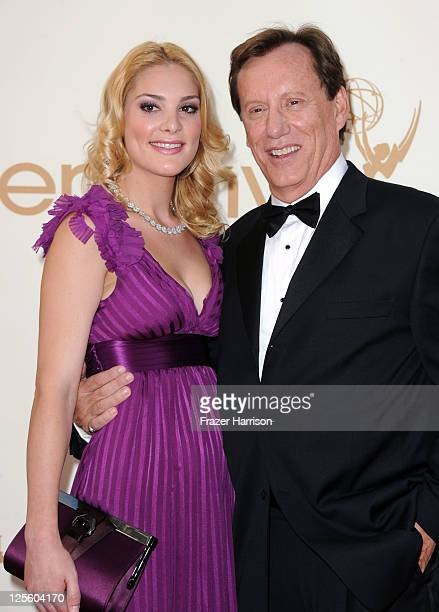 Actor James Woods and Ashley Madison arrives at the 63rd Annual Primetime Emmy Awards held at Nokia Theatre LA LIVE on September 18 2011 in Los...