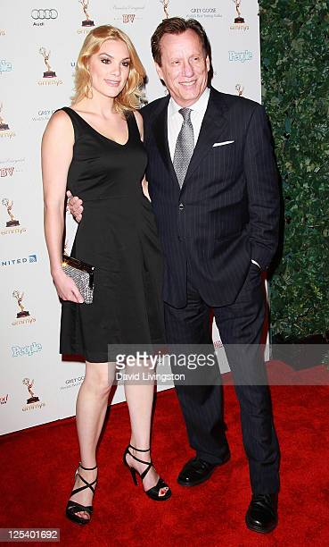 Actor James Woods and Ashley Madison attend the Academy of Television Arts Sciences' 63rd Primetime Emmy Awards performers nominee reception at...