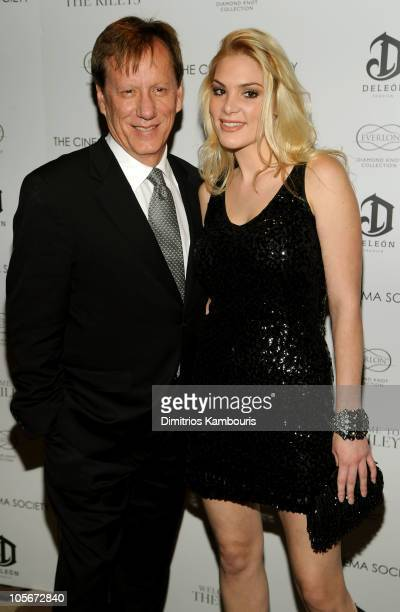 Actor James Woods and Ashley Madison attend The Cinema Society Everlon Diamond Knot Collection's screening of Welcome To The Rileys on October 18...
