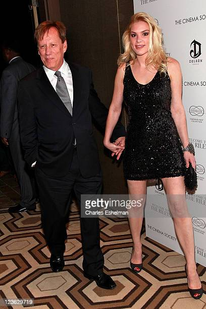 Actor James Woods and Ashley Madison attend The Cinema Society Everlon Diamond Knot Collection host a screening of Welcome to the Rileys at the...