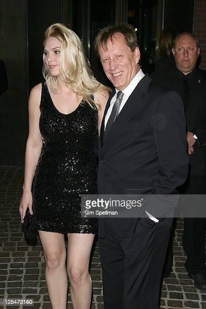 Actor James Woods and Ashley Madison attend The Cinema Society Everlon Diamond Knot Collection screening of Welcome To The Rileys on October 18 2010...
