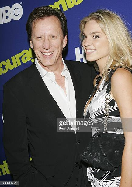 Actor James Woods and Ashley Madison attend the New York Premiere of the 3rd Season of HBO's Entourage at the Skirball Center for the Performing Arts...
