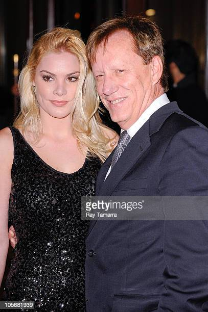 Actor James Woods and Ashley Madison enters the Tribeca Grand Hotel on October 18 2010 in New York City